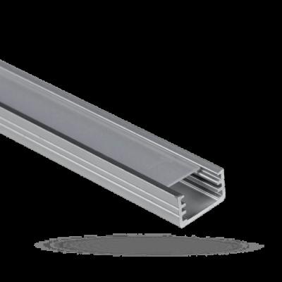 Hliníkový profil (lišta) nízký s průhledným krytem