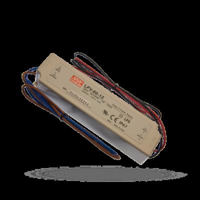 Zdroj pro napájení LED pásku  12V 5A 60W IP67 LPV-60-12 MEANWELL