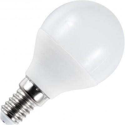 LED koule E-14 230V 6W teplá bílá 2700 - 3300K (žluté světlo)