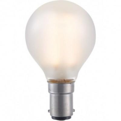 LED Ba15d kulička vlákno G45x75mm 230V 320Lm 4W 2500k 925 360° AC matná stmívatelná