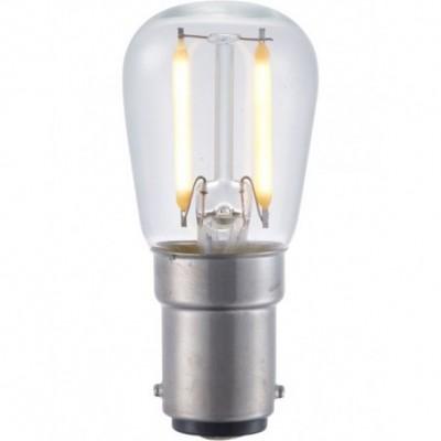 LED Ba15d trpasličí vlákno P26x56mm 230V 140Lm 1.5W 2500K 925 360° AC čirá není stmívatelná