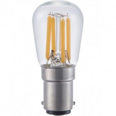 LED Ba15d trpasličí vlákno P26x56mm 230V 190Lm 3W 2500K 925 360° AC čirá stmívatelná