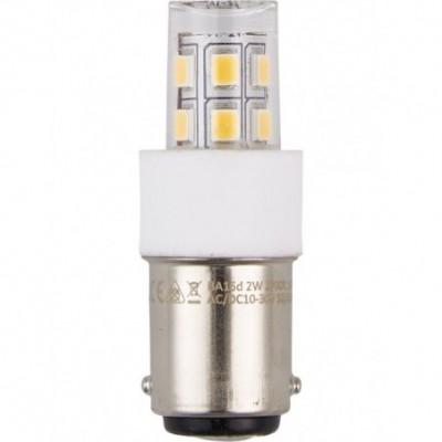 LED Ba15d Tube T17x47mm 10-30V 360° 140Lm 2W 2700K 827 360° AC/DC čirá není stmívatelná