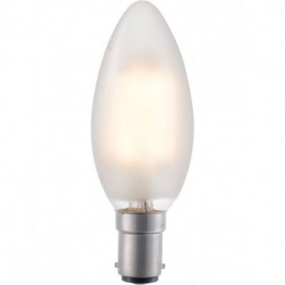LED Ba15d svíčka vlákno C35x100mm 230V 320Lm 4W 2500K 925 360° AC matná stmívatelná