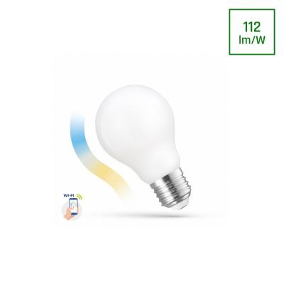 LED stmívatelná žárovak A60 5W COG 230V CCT (3000K-6500K)+DIM mléčná Wi-Fi SMART
