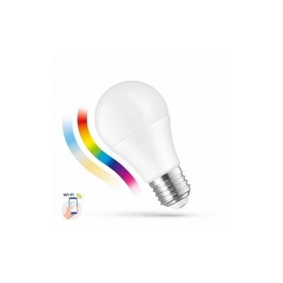 LED RGB stmívatelná žárovka A60 9W E-27 230V RGBW+CCT (3000K-6500K)+DIM Wi-Fi SMART