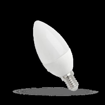LED svíce E-14 230V 8W studená bílá 6000K (bílé světlo)